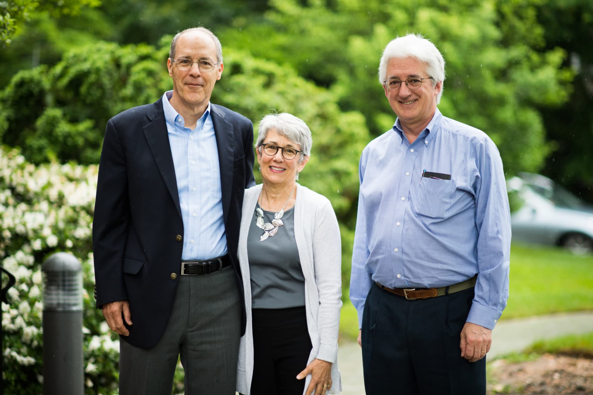 Two older men and an older woman