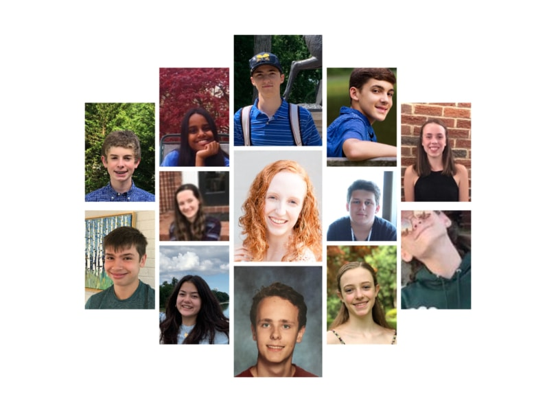 A collage of teenage participants in the confirmation program.